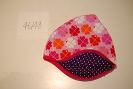 3 Helmmütze, Glücksklee auf rosa