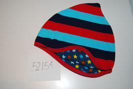 34 Helmmütze, Blockstreifen Rot und Blau