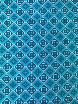 Textilmaske aus 100% Baumwolle *Turquoise Passion*