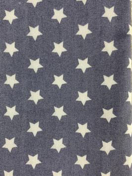 Textilmaske aus 100% Baumwolle *Blaugrau Sterne*