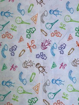 Textilmaske aus 100% Baumwolle *Scribble*