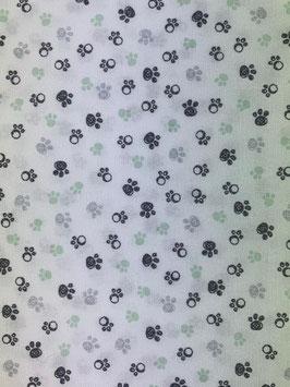 Textilmaske aus 100% Baumwolle *Pfötchen Grün*