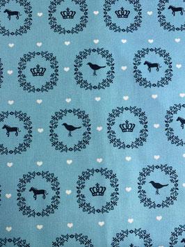 Textilmaske aus 100% Baumwolle *Skyblue Royal*
