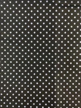 Textilmaske aus 100% Baumwolle *Dunkelbraun klein gepunktet*