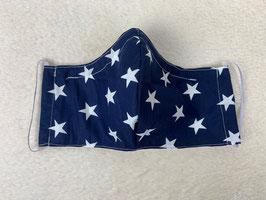 Textilmaske aus 100% Baumwolle *Blau Sterne*