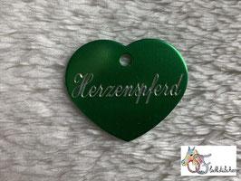 """Aluminium-Marke """"Herz 27 x 32mm"""" Schriftzug + Logo"""