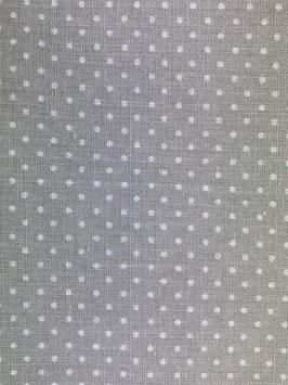 Textilmaske aus 100% Baumwolle *Grau klein gepunktet*