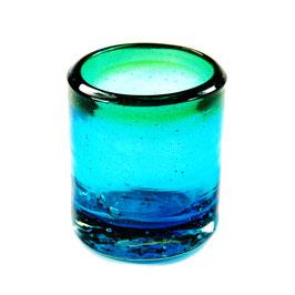Mezcal-Schnapsglas türkis-grün