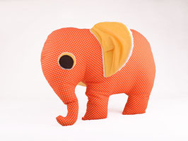 Elefant retro orange/gelb