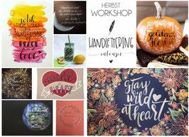 Herbstworkshops Handl-Lettering Intensivwochen