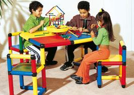 Spieltisch mit 4 Drehstühlen