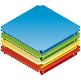 Platte 40x40cm (für Rohre mit einer Länge von 35cm)