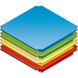 Platte 8x8cm
