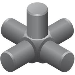 Raumkupplung 5-armig