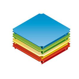 Platte 30x30cm (für Rohre mit einer Länge von 25cm)