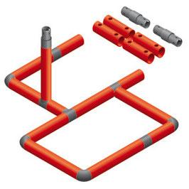 Bogenrutschen Rahmen