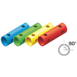 Rohr 15cm 90° (4 Löcher)