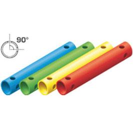 Rohr 35cm 90° (4 Löcher)