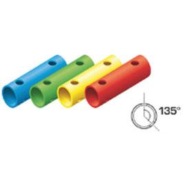 Rohr 15cm 135° (3 Löcher)