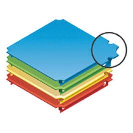 Platte 40x40cm für Holzgitter (zweiseitiger Aussparung)