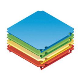 Platte 40x40cm für Plexiglas (einseitiger Aussparung)