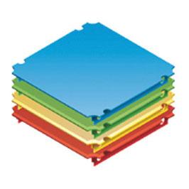 Platte 40x40cm für Plexiglas (zweiseitiger Aussparung)