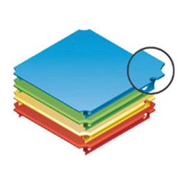 Platte 40x40cm für Holzgitter (rechtsseitiger Aussparung)