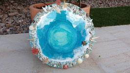 ART Oceanbild Resinbild rund