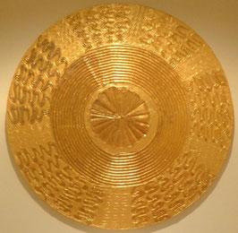 "Energie - Harmonie Kunstbild ""in Fluss kommen"" gelb - gold 100cm"