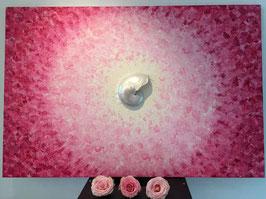 Nautilus ART Bild Pink - Rosa LOVE Lebensfreude 80 x 120 Acryl auf Leinwand