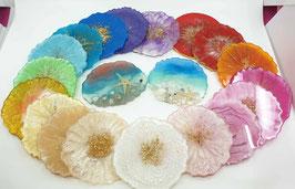 Resin Untersetzerli in allen Farben