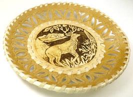Russische flache Schale Teller aus Birkenrinde, Artikel BIR4