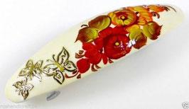 Russische Haarspange, Holz, handgemalt, Artikel HAARSP21