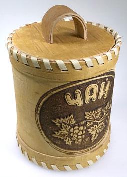 Russische Dose Mehrzweckdose Teedose aus Birkenrinde, Artikel BIR14