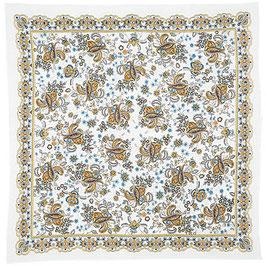 72x72cm Baumwolle gesäumt Russisches Tuch Manufaktur Pavlov Posad, Artikel 687-2