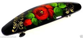 Russische Haarspange, Holz, handgemalt, Artikel HAARSP18