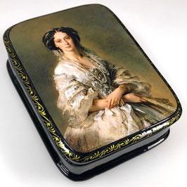 Imperatorin Alexandra Fjodorovna - Russische Schatulle Lackdosen Fedoskino, Artikel HER18