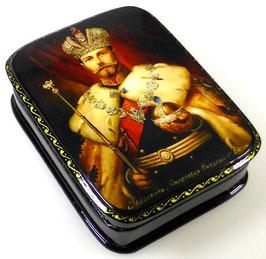 Imperator Nikolai II - Russische Schatulle Lackdosen Fedoskino, Artikel HER23