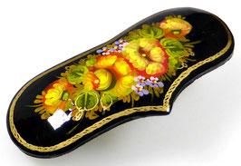 Russische Haarspange, Holz, Herzform, handgemalt, Artikel HAARSP14