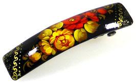 Russische Haarspange, Holz, handgemalt, Artikel HAARSP1