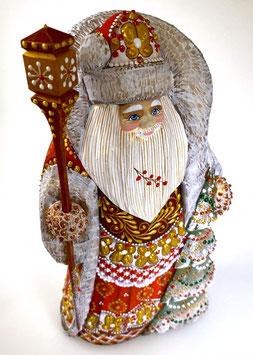 """Exklusive Russische Holzfigur """"Väterchen Frost"""", geschnitzt und sehr schön handgemalt, Artikel HOLZ08"""