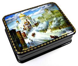 Das alte Moskau - Russische Schatulle Lackdose Fedoskino, Artikel MOS18