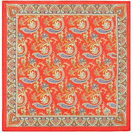 80x80cm Baumwolle gesäumt Russisches Tuch Manufaktur Pavlov Posad, Artikel 778-5