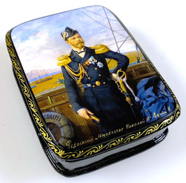 Imperator Nikolai II - Russische Schatulle Lackdosen Fedoskino, Artikel HER24
