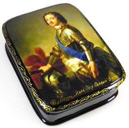 Peter der Große - Russische Schatulle Lackdosen Fedoskino, Artikel HER22