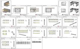 Bauplan Terrassenüberdachung PW1