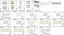 Bauplan Unterstand P2