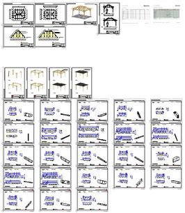 Bauplan Grillpavillon 4E1 G