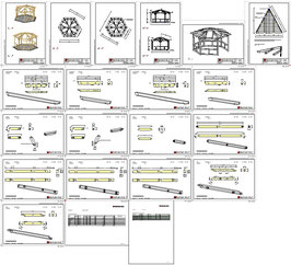 Bauplan Pavillon 6E1