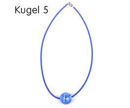 Halsband mit Kugel blau